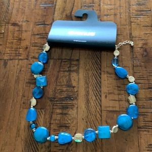 3/$10 NWT blue and gold necklace